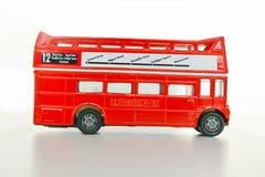 Het concept van bezoeklonden met de bus van Londen keychain Royalty-vrije Stock Afbeelding