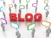 Het concept van Blog Royalty-vrije Stock Afbeeldingen
