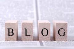 Het concept van Blog Stock Afbeelding