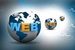 Het concept van bolinternet Stock Afbeelding