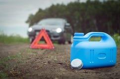 Het concept van het brandstofeind stock foto