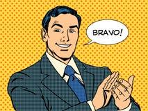 Het concept van Bravo van het mensenapplaus succes Stock Foto's