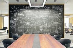 Het concept van het businessplan Stock Afbeelding