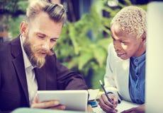 Het Concept van Collaboration Meeting Discussion van de managersecretaresse stock afbeelding