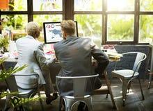 Het Concept van Collaboration Meeting Discussion van de managersecretaresse Royalty-vrije Stock Foto's
