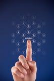 Het concept van Crowdsourcing Stock Foto