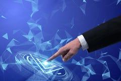 Het concept van het Cybersysteem Stock Afbeelding