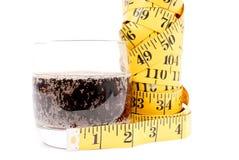 Het Concept van de Aanwinst van het Gewicht van de soda stock afbeeldingen