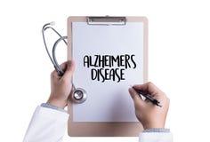 Het concept van de Alzheimersziekte, Hersenen degeneratieve ziekten Parkin royalty-vrije stock foto