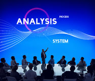 Het Concept van de analyseprocess System Company Oplossing royalty-vrije stock foto