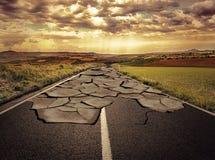 Het concept van de asfaltweg Royalty-vrije Stock Afbeeldingen