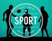 Het Concept van de Atletenexercise workout competition van de sportactiviteit Royalty-vrije Stock Afbeelding