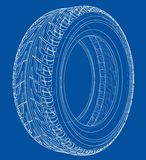 Het Concept van de autoband 3D Illustratie royalty-vrije stock afbeeldingen