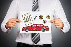 Het concept van de autolening Stock Afbeelding