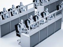 Het concept van de automatiseringsarbeider vector illustratie
