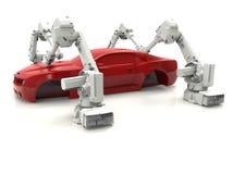 Het concept van de autoproductielijn Stock Afbeeldingen