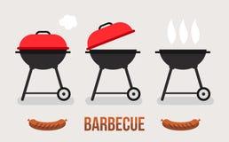 Het concept van de barbecueillustratie Royalty-vrije Stock Foto's