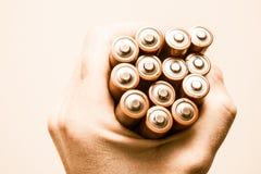 Het Concept van de batterijenmacht Stock Foto's