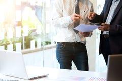 Het concept van de bedrijfsgroepswerkvergadering Stock Afbeeldingen