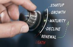 Het Concept van de bedrijfslevencyclus royalty-vrije illustratie