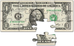 Het concept van de begroting (dollar) Stock Fotografie