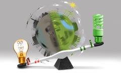 Het concept van de besparingsenergie Stock Foto's
