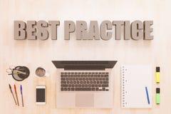 Het concept van de beste praktijkentekst Royalty-vrije Stock Afbeeldingen
