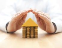 Het concept van de bezitsverzekering Stock Foto's
