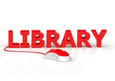Het concept van de bibliotheek royalty-vrije illustratie