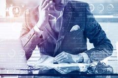 Het concept van de boekhouding Stock Afbeeldingen