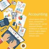Het concept van de boekhouding Organisatieproces royalty-vrije illustratie