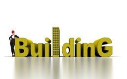 Het concept van de bouw Stock Fotografie