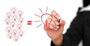 Het Concept van de brainstorming Stock Fotografie