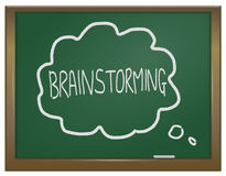 Het concept van de brainstorming. Stock Fotografie