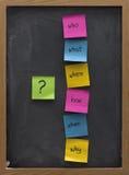 Het concept van de brainstorming op een bord stock fotografie