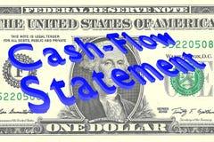 Het concept van de cash flowverklaring Stock Illustratie