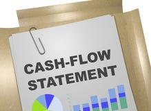 Het concept van de cash flowverklaring Royalty-vrije Illustratie