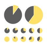 Het concept van de cirkeldiagramstatistiek Het diagram van het bedrijfsstroomproces Infographicelementen voor presentatie Percent Stock Foto