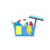Het concept van de Cleanindlevering royalty-vrije illustratie