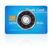 Het concept van de creditcardveiligheid Royalty-vrije Stock Foto's