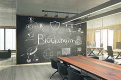 Het concept van de Cryptocurrencyworkshop Stock Afbeeldingen