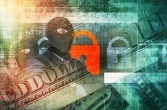 Het concept van de Cybermisdaad Royalty-vrije Stock Afbeelding