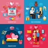 Het concept van de Dag van valentijnskaarten royalty-vrije illustratie