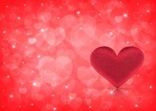 Het concept van de Dag van valentijnskaarten Stock Fotografie