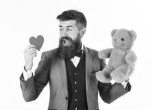 Het concept van de Dag van valentijnskaarten Mens klaar te vieren of te dateren Royalty-vrije Stock Foto