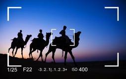 Het Concept van de de Cameramening van de fotografienadruk royalty-vrije stock fotografie