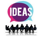 Het Concept van de de Creativiteitinnovatie van de ideeëninspiratie Stock Foto's