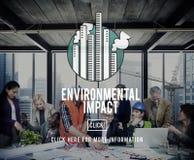 Het Concept van de de Ecologiehulp van het milieu-effectbehoud Stock Fotografie