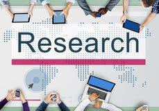 Het Concept van de de Exploratieinformatie van het onderzoekonderwijs Royalty-vrije Stock Foto