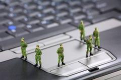 Het concept van de de gegevensveiligheid van de computer Stock Fotografie